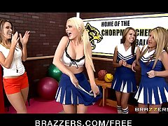 Slutty cheerleaders Alexis Ford and Courtney Cummz share big-dick