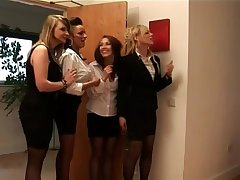 Hotel cfnm chicks have upper enforce a do without