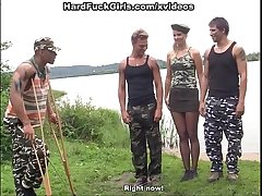 Hot hard core fuck in the army