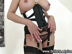 Mature Lady Sonia in stockings