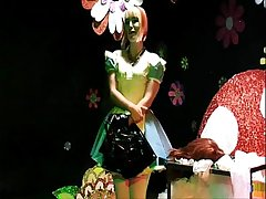 Straight Chap Sissy Maid Forced Crossdressing Alice In Wonderland Humiliation