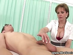 Cuckolds wife plays nurse