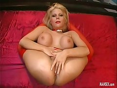 Busty blonde gets anal fucking in gymnastic poses