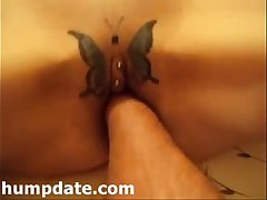 Kinky wife gets her pierced pussy fisted
