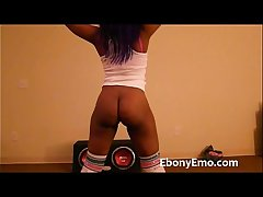 Ebony Emo With Nice Booty Dance Nude On touching Socks