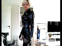 sissy leather outfit