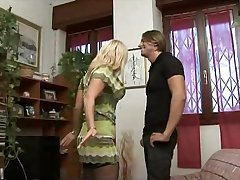 Simmering Cheating Italian Housewife with her young Beau