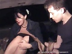 Mature woman blows 19yr guy in car Homemade
