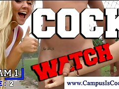 Sexy college scavenger hunt with hot girls