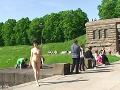 Spectacular Public Nudity With Miriam Together with Celine
