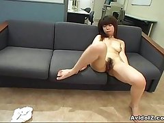 Stunning Asian riding cock and then tied up parallel to a dog!